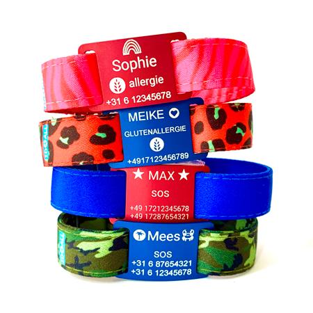 Medizinisches Notfallarmband mit Allergiesymbolen