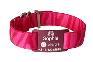BAND-METAL-RED-ZEBRA-PINK